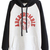 ROMWE | ROMWE Color Block Letters Print Black Hoodie, The Latest Street Fashion
