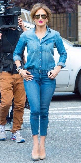 jeans blue blue jeans sexy beautiful jennifer lopez style ripped jeans women