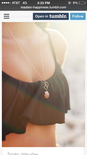 jewels shell wave necklace