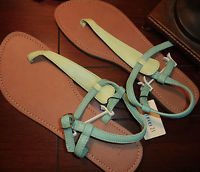 Forever 21 Sandals Mint Green T Strap Two Tone NWT 7 Cute