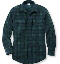 Men's Fleece Button Down Shirt, Plaid Extra Large Blue