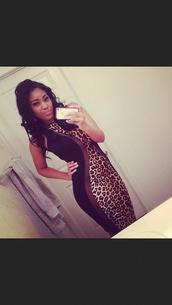 dress,little black dress,black,leopard print,mesh