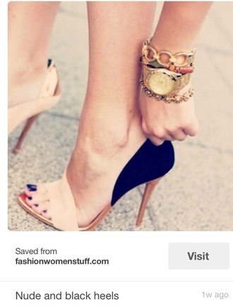shoes high heels style nude shoes black heels fashion