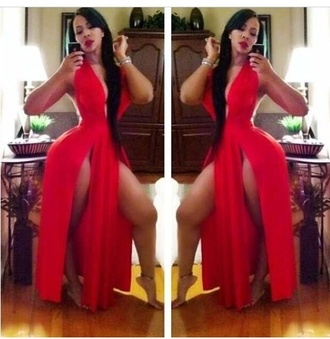 dress red dress deelishis