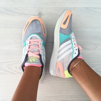 shoes adidas running shoes pastel