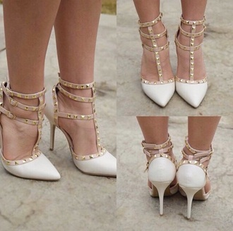 shoes while shoes studded style