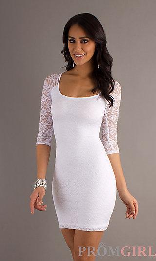 Sexy Lace Mini Dress, Short Homecoming Dress- PromGirl
