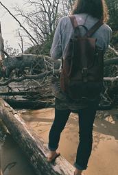 bag,leather,backpack,leather backpack,dark brown,drawstring backpack