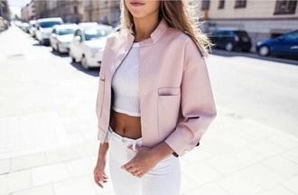 jacket pink leather jacket