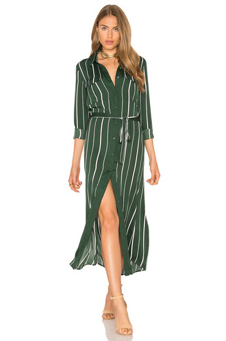 dress shirt dress long green
