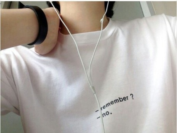 t-shirt quote on it black and white