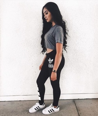top leggings grey adidas addidas pants adidas shoes