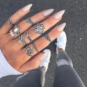jewels,jewelry,boho jewelry,boho,boho chic,bohemian,knuckle ring,ring,ring sets,accessories,Accessory