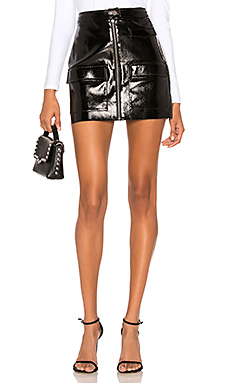 1. STATE Crackle Patent Leather Skirt in Rich Black from Revolve.com