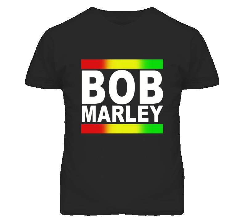 Bob Marley Rasta Music Graphic T Shirt
