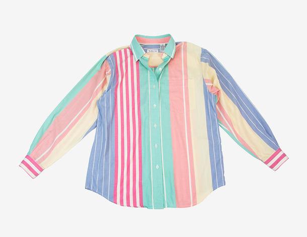 blouse pastel pastel goth pastel pink pastel grunge button up stripes striped top striped shirt