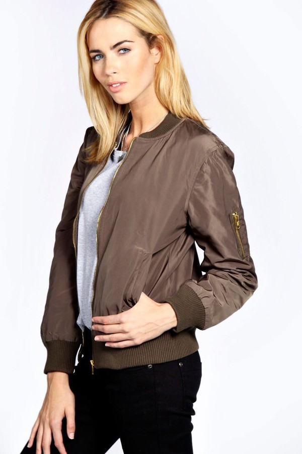Womens Madison MA1 Bomber Jacket - Khaki - 8: Amazon.co.uk: Clothing
