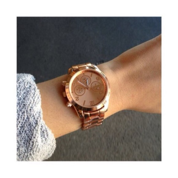 jewels rose gold watch gold wrist watch