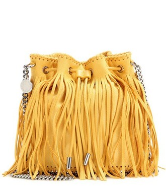 bag bucket bag yellow