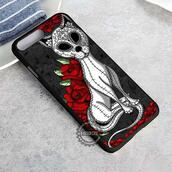top,sugar skull,skull,cats,mexico,deay of the dead,iphone case,phone cover,iphone x case,iphone 8 case,iphone7case,iphone7,iphone 6 case,iphone6,iphone 5 case,iphone 4 case,iphone4case