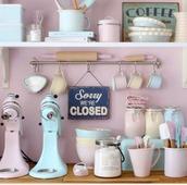home accessory,kitchen accessory,home decor,pastel accessory,pink,blue,accessories,kitchen,pastel,Accessory,dinnerware,our favorite home decor 2015