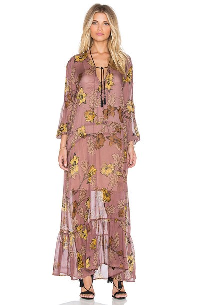 For Love & Lemons dress maxi dress maxi pink