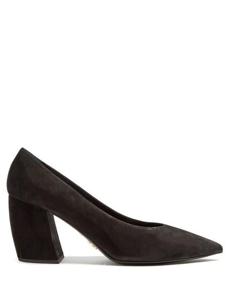 Prada suede pumps pumps suede black shoes