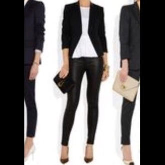 cardigan black blazer coat jumper work style fashion trend trendy pants blouse bag