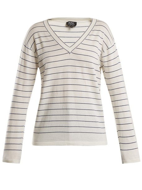 A.P.C. sweater cotton white