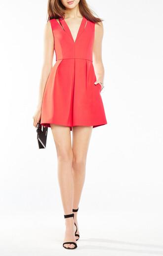 dress red dress v neck dress short dress graduation dress