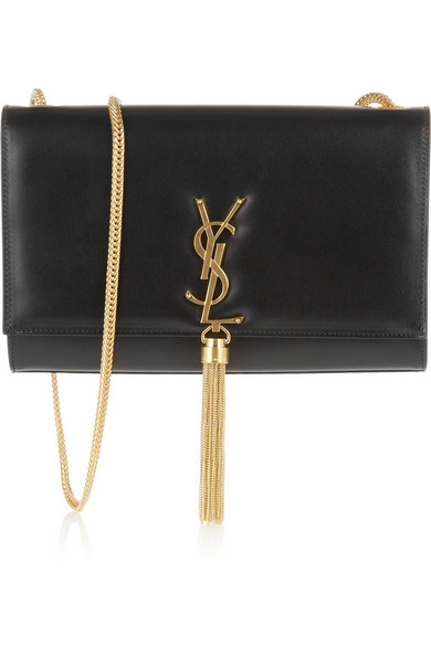 Saint Laurent | Cassandre leather shoulder bag | NET-A-PORTER.COM