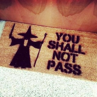 scarf you shall not pass gandolf lord of the rings welcome mat doormat