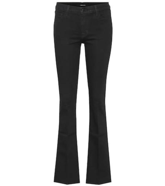 J Brand Sallie mid-rise flared jeans in black