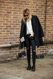 camille over the rainbow,coat,jacket,jeans,t-shirt,bag,sunglasses