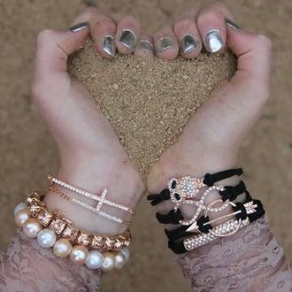 jewels rose gold infinite bracelets stacked bracelets bracelets