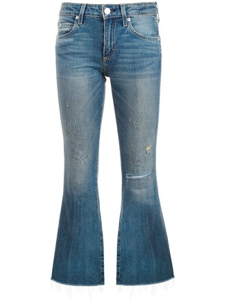 jeans flare jeans flare cropped blue