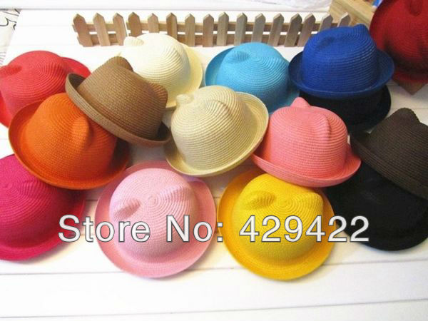 Aliexpress.com : buy kawaii kitten ears hat for children novelty cute cat ear cap colorful kid's dome hat child round fedoras free shipping s7021 from reliable hat suppliers on ele
