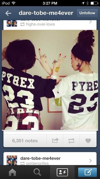 shirt pyrex black and white tumblr