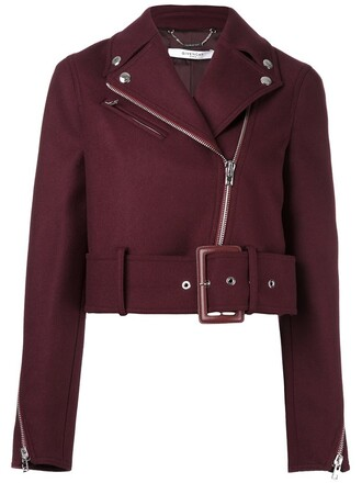 jacket cropped red