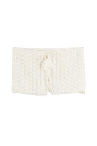 shorts crochet shorts crochet white