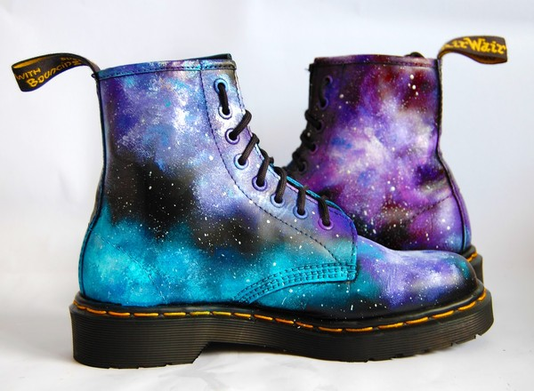 shoes galaxy print dr marten boots