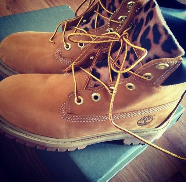 shoes timberland leopard print