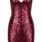 Sequin mini dress red