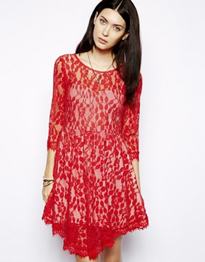 Free People | Free People Floral Lace Dress at ASOS