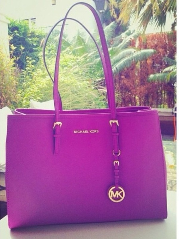 Bag Michael Kors Purple Wheretoget
