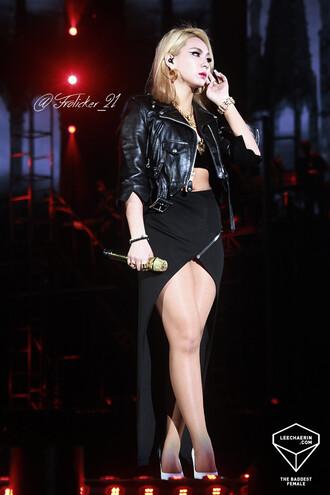 skirt black skirt high low skirt zipper skirt