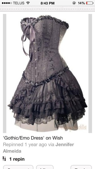dress prom dress corset corset dress grey