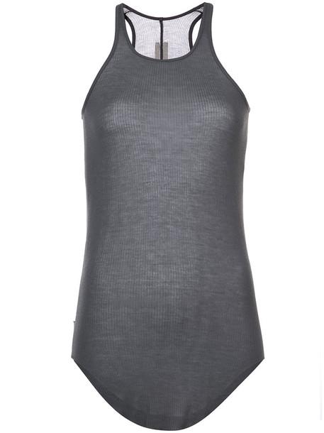 Rick Owens tank top top women silk grey