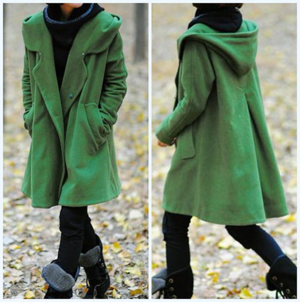coat hoodie wool cape