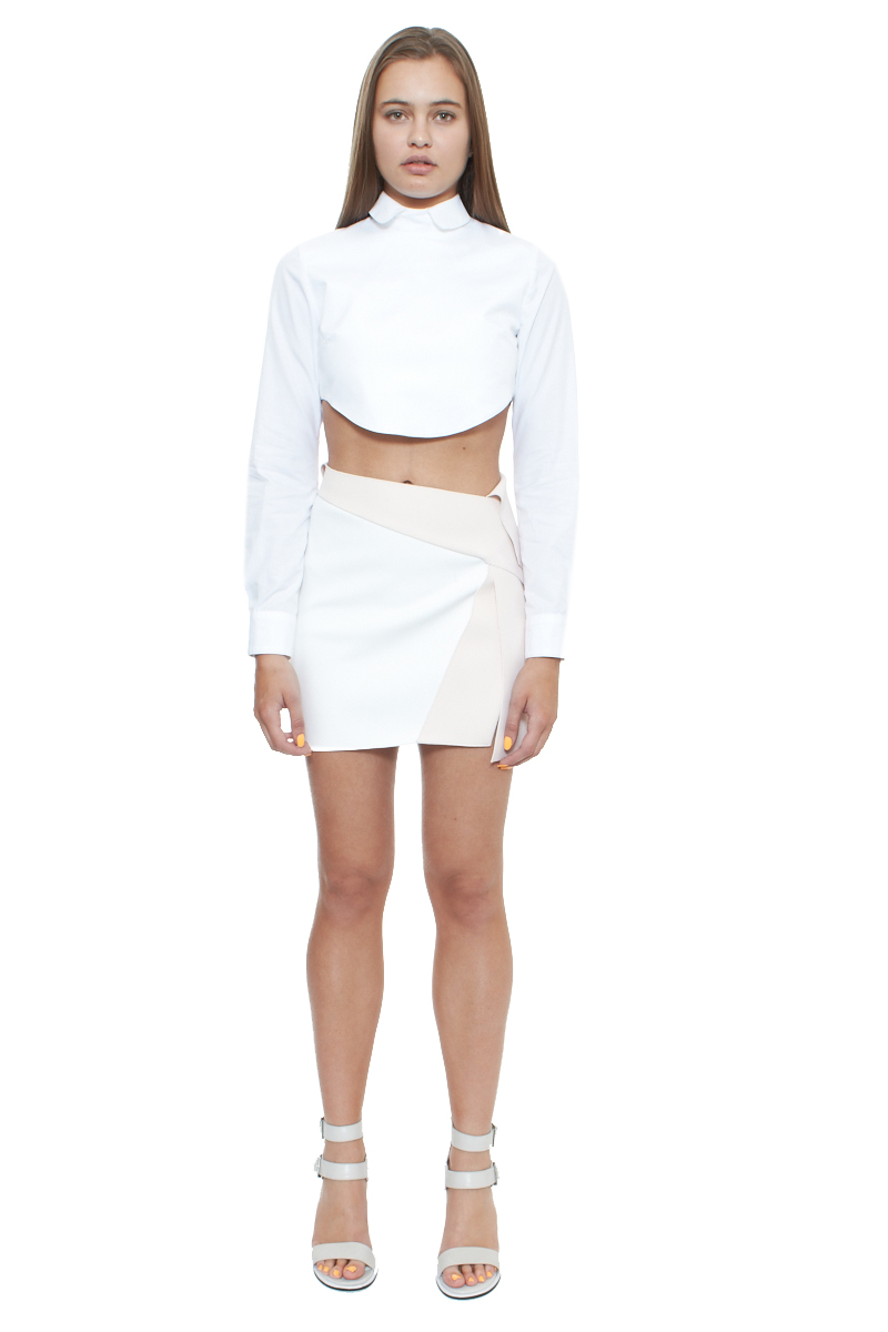 Wrap harness mini skirt